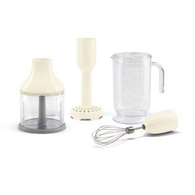 image SMEG hbac01cr Crème Ensemble d'accessoires pour mixeur plongeant, Plastic, ivoire