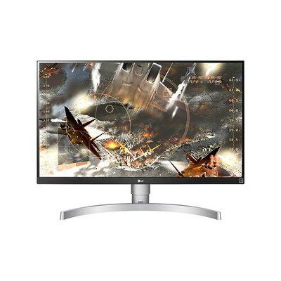 """image LG 27UL650-W Moniteur UHD 4K 68,6 cm (27 """") avec Panneau IPS (3840 x 2160 pixels, 16: 9, 350 cd/m², sRVB> 99%, 1000: 1, 5 ms, 60 Hz), Argent et Blanc"""