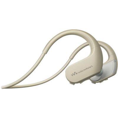 image Sony Walkman NW-WS413 - Lecteur MP3 Intégré à des Ecouteurs - Etanche - 4 Go - Ivoire