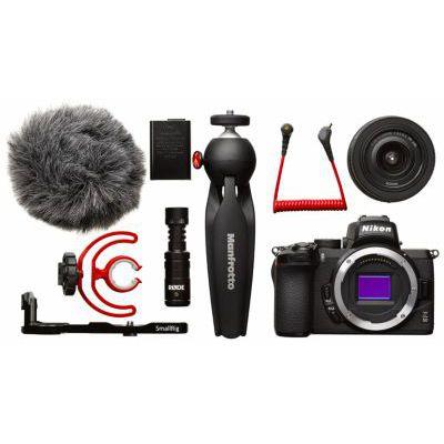 image Nikon Hybride Z50 Vlogger KIT + Plaque de Montage SmallRig + Mini-trépied Manfrotto + Micro Röde VOA050K010 et Carte mémoire SDXC SanDisk Extreme 128Go jusqu'à 150Mo/s