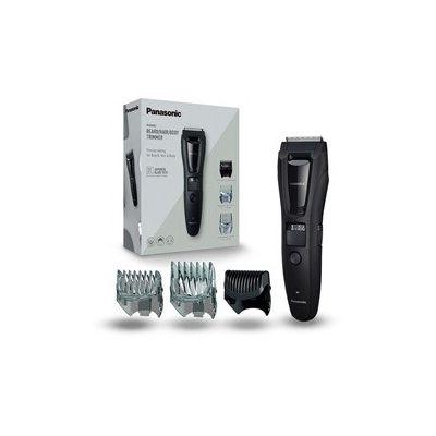 image Panasonic ER-GB61-K503 Tondeuse pour homme corps, barbe et tête 3 en 1, rechargeable, acier inoxydable, batterie longue durée, 39 réglages, 3 accessoires inclus Noir/argent