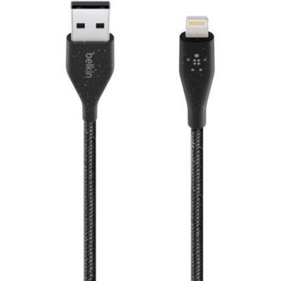 image Belkin Câble Lightning vers USB-A DuraTek Plus avec Sangle de Fermeture (Câble Lightning vers USB, Câble de 1,2 m, Noir)