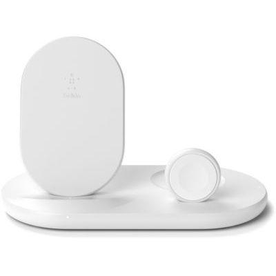 image Belkin Station de recharge à induction 7,5 W pour iPhone, Apple Watch et AirPods - blanc