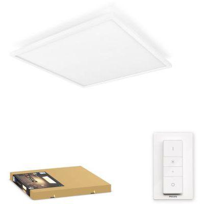 image Philips Hue White Ambiance AURELLE Panneau LED 60X60 cm 46,5W compatible Bluetooth - Blanc (télécommande incluse)