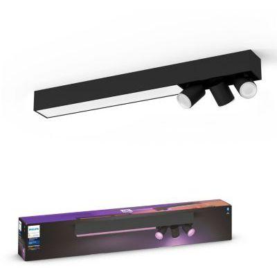 image Philips Hue White and Color Ambiance Centris 3 Spots - Noir, compatible Bluetooth