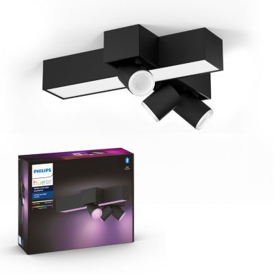 image Philips Lighting Hue White and Color Ambiance Centris 3 Spots - Noir, compatible Bluetooth