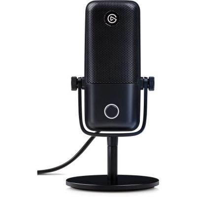 image Elgato Wave:1, Micro USB à condensateur et solution de mixage numérique haut de gamme avec technologie antiécrêtement et bouton Mute tactile, pour le streaming et la production de podcasts