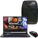 """image produit PC Portable 17.3"""" Asus Strix G17 G712LV-H7061T - 120Hz, i7-10750H, 1 To SSD, 16 Go de RAM, RTX 2060 (6 Go) + Sac à dos + Souris"""
