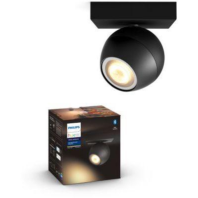 image Philips Hue White Ambiance BUCKRAM Spot 1x5.5W extension - Noir (télécommande non incluse), compatible Bluetooth