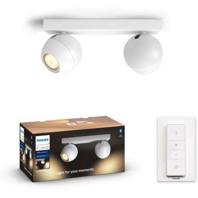 image Philips Lighting Hue White Ambiance BUCKRAM Spot barre tube 2x5.5W - Blanc (télécommande incluse), compatible Bluetooth 915005918301