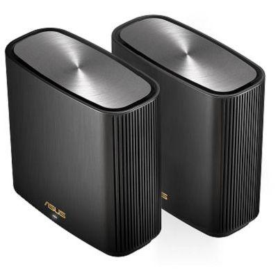 image ASUS ZenWiFi AX (XT8) 2 Pack, Système Wi-FI 6 Mesh, Tri-Bande (2,4 GHz / 5GHz / 5 GHz), 6600 Mbit/s, 500m2, AiProtection avec TrendMicro à vie, Port WAN/LAN 2,5 Gigabit + 3 Ports LAN Gigabit, AiMesh
