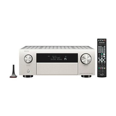 image Denon AVC-X4700H Amplificateur AV 9.2 canaux HiFi Compatible Alexa 8 entrées HDMI et 3 Sorties vidéo 8 K Bluetooth, Wi-FI, Streaming Musical, Dolby Atmos, Auro-3D, AirPlay 2, HEOS Multiroom argenté