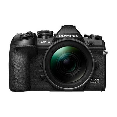image Olympus Appareil photo hybride E-M1 Mark III 1240  + objectif 12-40mm Noir