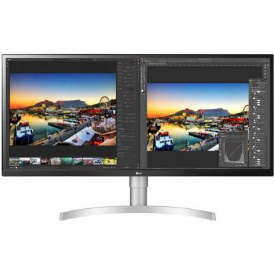 image LG UltraWide 34WL850-W, Moniteur 21:9 QHD Nano IPS 34'' (3440 x 1440, 5 ms, DCI-P3 98%, HDMI, DisplayPort, Thunderbolt, USB 3.0, HDR 400, Haut-parleurs, Ajustable Hauteur, FreeSync) Noir/Argent