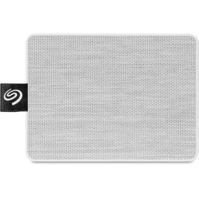 image Seagate Technology Disque Dur externe SSD, One Touch SSD 500Go USB3.0, Blanc