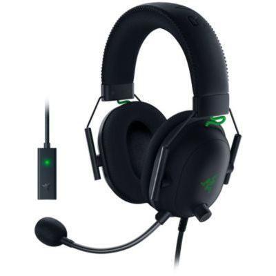 image Razer BlackShark V2 avec carte son micro USB -Casque De Jeu Esports Prime (Haut-parleurs en titane de 50 mm, Micro cardioïde, Annulation passive du bruit avancée pour PC, Mac, PS4, Xbox One et Switch)