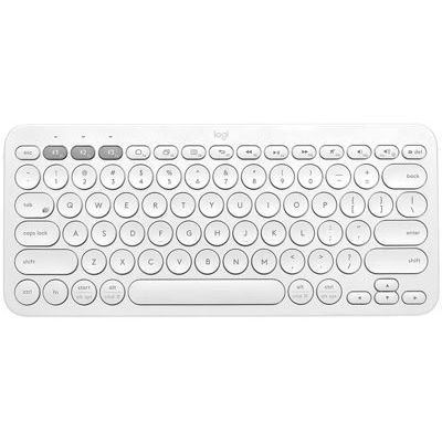 image Logitech K380 Clavier sans Fil Multi-Dispositifs pour Windows, Apple iOS, Android ou Chrome, Bluetooth, Design Compact, PC/ Mac/ Portable/ Smartphone/ Tablet/ Apple TV, Clavier AZERTY Français, Blanc