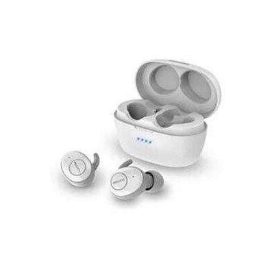 image Philips T3215WT/00 Écouteurs Bluetooth, Écouteurs sans fil (Longue durée de vie de la batterie, Protection contre les éclaboussures IPX4, Pochette de chargement portable) Blanche - Modèle 2020/2021