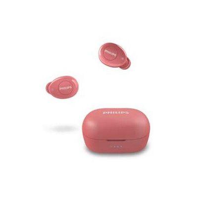 image Philips T2205RD/00 Écouteurs Bluetooth (Écouteurs sans fil, Commande vocale, 12 heures d'autonomie, Protection contre les éclaboussures IPX4, Petit boîtier de charge) Rouge - Modèle 2020/2021