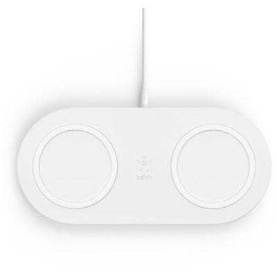 image Belkin Double station de recharge à induction (sans fil) 10 W pour smartphone et accessoires... - blanc