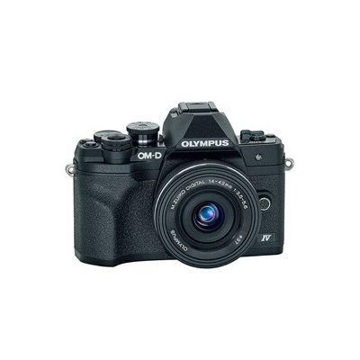 image Kit d'appareil photo Micro Four Thirds Olympus OM-D E-M10 MarkIV,capteur 20MP, viseur électronique, vidéo4K, Wi-Fi, noir - Comprend l'objectif M.Zuiko Digital ED 14-42mm F3.5-5.6 EZ Pancake argent