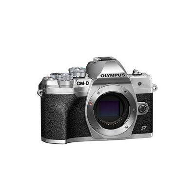 image Appareil photo Micro Four Thirds Olympus OM-D E-M10 MarkIV, capteur 20MP, stabilisateur d'image sur 5axes, écran LCD pour selfies, viseur électronique, vidéo4K, autofocus puissant, Wi-Fi, argent