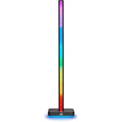 image Corsair iCUE LT100 Smart Lighting Towers Starter Kit (Deux tours Hautes de 422 mm Contenant Chacune 46 LED Paramétrables, Diffusion de Lumière Intégrée, Support pour Casque Amovible) Noir