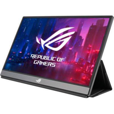 "image ASUS ROG XG17AHPE - Ecran PC gaming portable 17,3"" FHD - Dalle IPS - 16:9 - 240Hz - 3ms - 1920x1080 - 300cd/m² - 2x USB-C et 1x Micro HDMI - Adaptive Sync - Batterie 7800 mAH - Haut-parleurs intégrés"