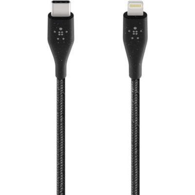 image Belkin Câble USB-C Boost Charge avec connecteur Lightning et sangle de fermeture (câble DuraTek, 1,2 m, noir)