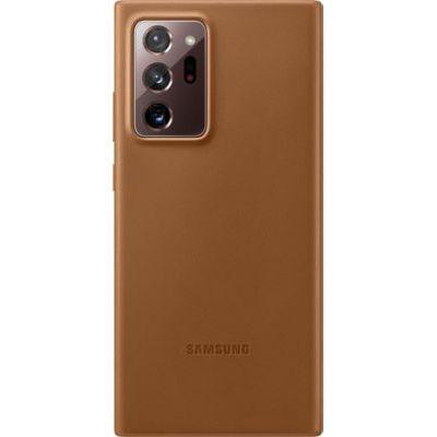 image Samsung Leather Cover EF-VN985 - Coque de Protection pour téléphone Portable - Cuir - Brun - pour Galaxy Note20 Ultra, Note20 Ultra 5G