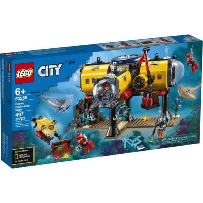 image produit LEGO-La Base d'exploration océanique City Jeux de Construction, 60265, Multicolore