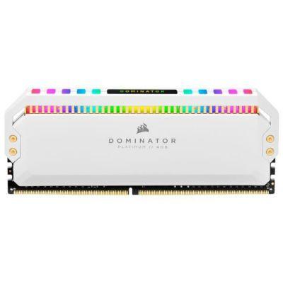 image Corsair Dominator Platinum RGB 16Go (2x8Go) DDR4 3200MHz C16, Eclairage LED RGB Mémoire de Bureau (Performances Haute, Temps Réponse Rapides, 12 paramétrables CAPELLIX RGB LED) - Blanc