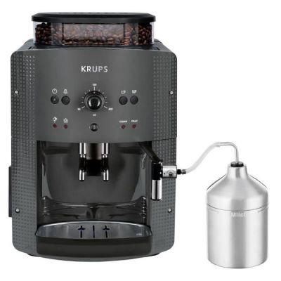 image KRUPS YY4451FD Machine à café automatique avec broyeur à grains Essential avec mousseur à lait - Pression 15 bars - Grise