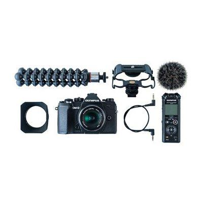 image [Pack] Appareil photo hybride Olympus OM-D E-M5 MKIII noir + ED 12mm f/2 + Micro phone + Minitrépied