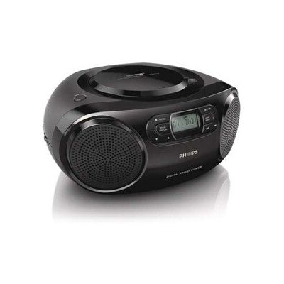 image Radio Portable Philips Audio AZB500/12 Radio Dab (Dab+/UKW, Dynamic Bass Boost, Lecture CD, Fonction Shuffle/répétition, entrée Audio 3,5-mm) Noir (modèle 2020/2021) Taille Unique