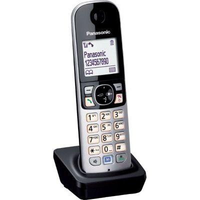 image Panasonic extra combiné supplémentaire KX-TG68xx Serie incl. Chargeur de table , noir [Version Allemande]