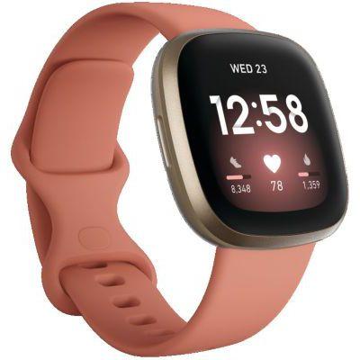image Fitbit Versa 3 Pink Clay - Soft Gold Smartwatch Unisex-Adult, Argile Rose, Or, Pâle, One