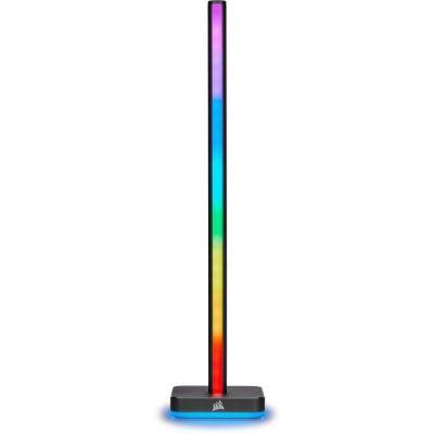 image Corsair iCUE LT100 Smart Lighting Tower Lot d'Extension(Un tours Hautes de 422 mm Contenant Chacune 46 LED Paramétrables, Diffusion de Lumière Intégrée, Support pour Casque Amovible) Noir