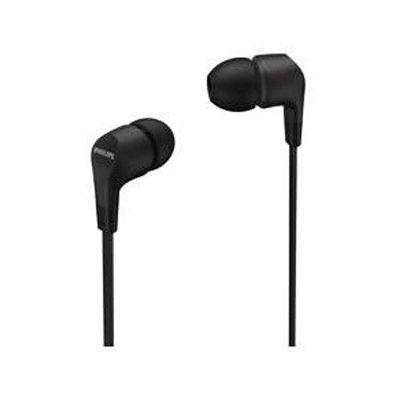 image Philips E1105BK/00 Écouteurs intra-auriculaires avec télécommande en ligne (pilote néodyme 8,6 mm, basses puissantes, son clair, assise confortable) Noir