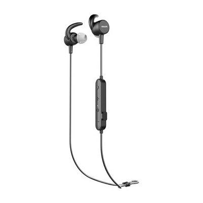image Casque de sport Philips SN503BK/00 à l'oreille (Bluetooth, 6 heures d'autonomie, Moniteur de fréquence cardiaque intégré, Fonction de charge rapide, Étanche IPX5, Résistant à la sueur) Noir