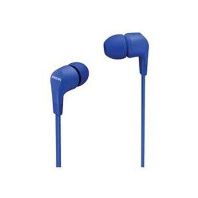 image Philips 2020/2021 Écouteurs In E1105BL/00 avec télécommande en ligne (diaphragme en néodyme, basses puissantes, son clair, assise confortable Bleu