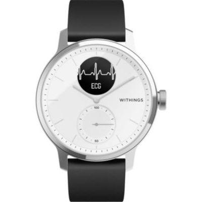 image Withings Scanwatch 42mm Montre Connectée Hybride avec ECG, Fréquence Cardiaque, SPO2 et Suivi du Sommeil Unisex-Adult, Blanc