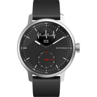 image Withings Scanwatch 42mm Montre Connectée Hybride avec ECG, Fréquence Cardiaque, SPO2 et Suivi du Sommeil Unisex-Adult, Noir