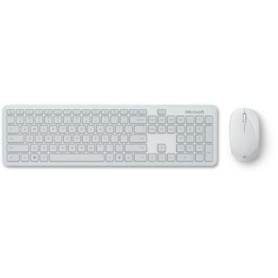 image Microsoft Bluetooth Desktop Ensemble Clavier et Souris Bluetooth pour PC, mac, Tablette Compatible Windows, macOS, Chrome OS, Clavier Français AZERTY, Gris Glacier