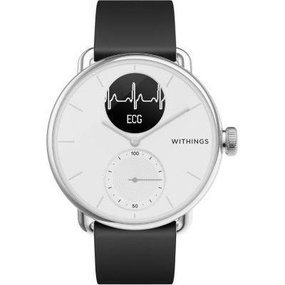 image Withings Scanwatch 38mm Montre Connectée Hybride avec ECG, Fréquence Cardiaque, SPO2 et Suivi du Sommeil Unisex-Adult, Blanc