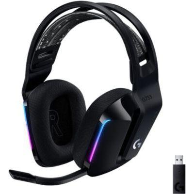 image Logitech Casque Gaming sans fil LIGHTSPEED G733 de Logitech avec Bandeau de Suspension, LIGHTSYNC RVB, Technologie de Micro Blue VO!CE et Transducteurs Audio PRO-G- BLACK