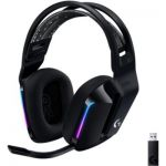 image produit Logitech Casque Gaming sans fil LIGHTSPEED G733 de Logitech avec Bandeau de Suspension, LIGHTSYNC RVB, Technologie de Micro Blue VO!CE et Transducteurs Audio PRO-G- BLACK - livrable en France