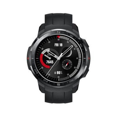 image HONOR Watch GS Pro - Montre connectée - Moniteur de fréquence Cardiaque et de Stress – GPS intégré – Appels mains-libres – 4 Go de mémoire interne – Noir