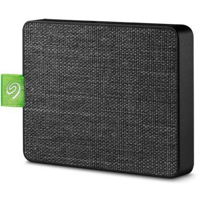 image Seagate Ultra Touch SSD 500 Go, SSD externe portable – noir, USB-C et USB 3.0, pour PC et Mac, Abonnement de 4 mois à la formule Adobe Creative Cloud, et services Rescue valables 3 ans (STJW500401)
