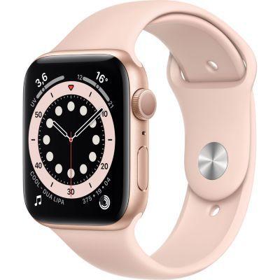 image AppleWatch Series6 (GPS+ Cellular, 44 mm) Boîtier en aluminium or, Bracelet Sport rosedessables